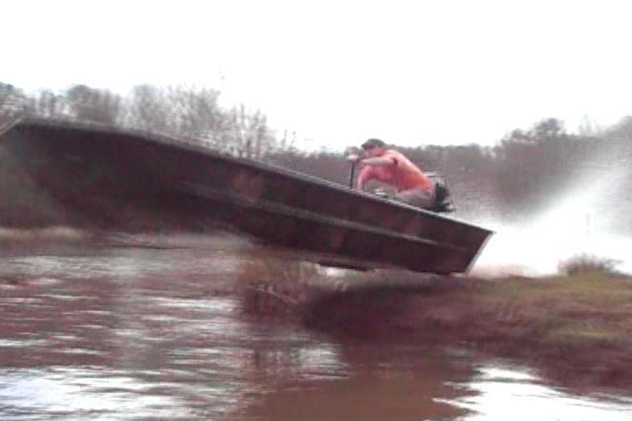 boat jumping land island